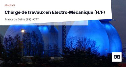 CHARGÉ DE TRAVAUX EN ÉLECTRO-MÉCANIQUE