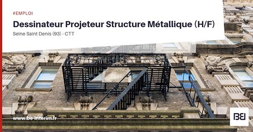 Dessinateur projeteur structure metallique h f bureau d for Dessinateur bureau etude