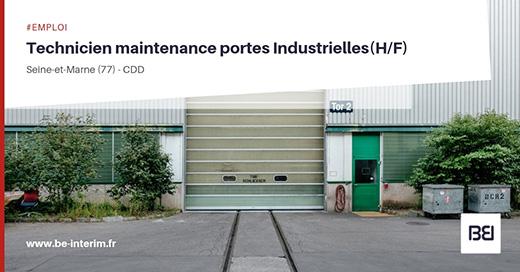 Technicien de maintenance en porte industrielle