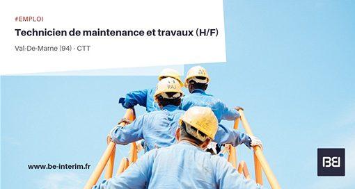 technicien de maintenance et travaux