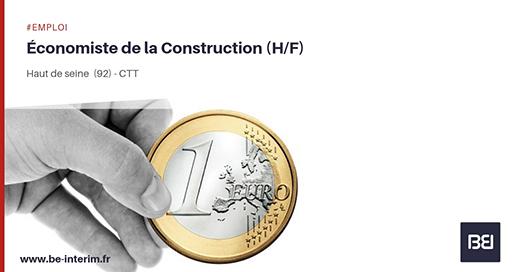 Offre d 39 emploi economiste de la construction bureau d 39 tude interim - Offre d emploi bureau d etude ...