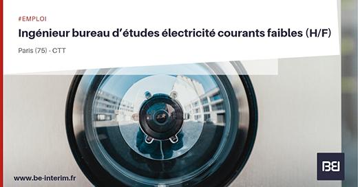 Offre d 39 emploi ingenieur bureau d etudes electricite courants faibles h f bureau d 39 tude interim - Offre d emploi bureau d etude ...