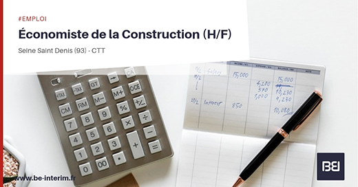 ECONOMISTE DE LA CONSTRUCTION