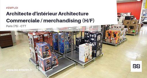 Architecte d'intérieur - merchandising