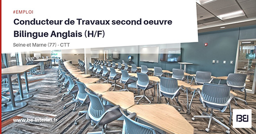 Offre D Emploi Conducteur De Travaux Second Oeuvre Bilingue