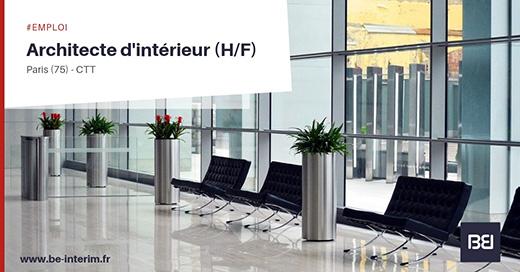 Offre d 39 emploi architecte d int rieur bureau d 39 tude interim - Offre d emploi bureau d etude ...