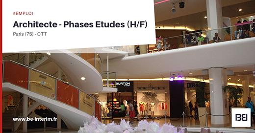 ARCHITECTE - PHASES ETUDES