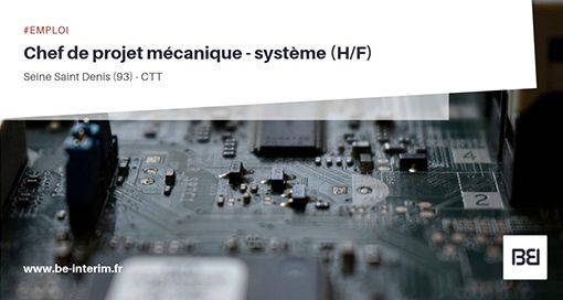 Chef de projet mécanique - Système