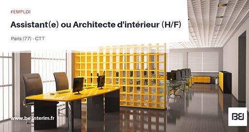 Assistant(e) ou Architecte d'interieur