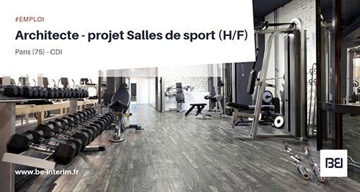 ARCHITECTE - PROJET SALLES DE SPORT