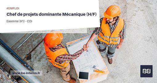 CHEF DE PROJETS DOMINANTE MÉCANIQUE
