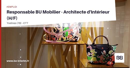 RESPONSABLE BU MOBILIER - ARCHITECTE D'INTÉRIEUR