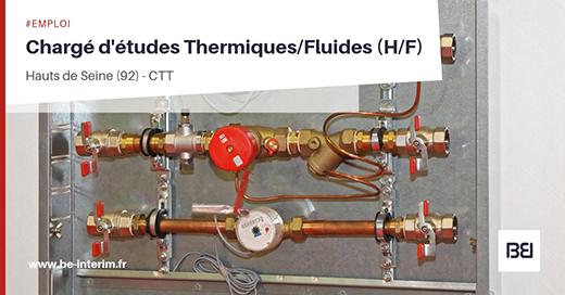Chargé d'études Thermiques/Fluides