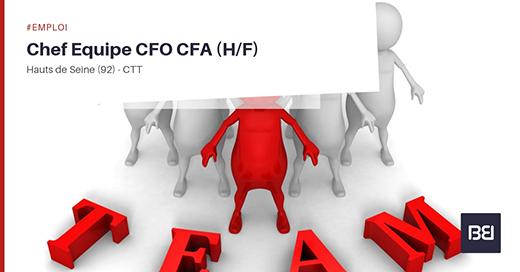 chef d'équipe CFO CFA