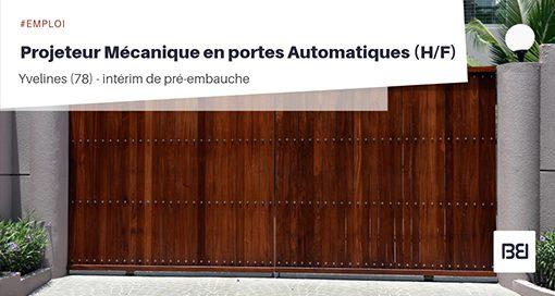 Projeteur Mécanique en portes automatiques