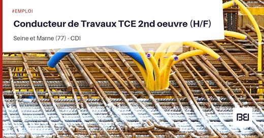 Conducteur de Travaux TCE 2nd oeuvre