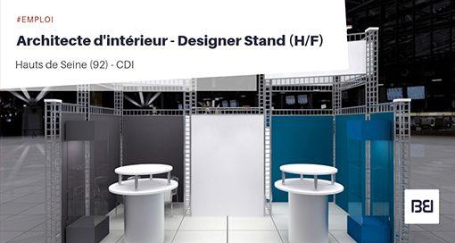 ARCHITECTE D'INTÉRIEUR - DESIGNER STAND