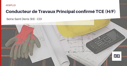CONDUCTEUR DE TRAVAUX PRINCIPAL TCE
