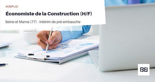 ÉCONOMISTE DE LA CONSTRUCTION