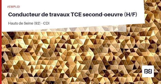 CONDUCTEUR DE TRAVAUX TCE SECOND-OEUVRE