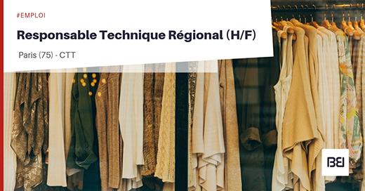 Responsable Technique Régional