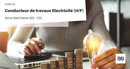 CONDUCTEUR DE TRAVAUX ELECTRICITÉ