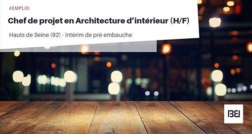 CHEF DE PROJET EN ARCHITECTURE D'INTERIEUR