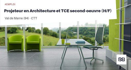 PROJETEUR EN ARCHITECTURE ET TCE SECOND-OEUVRE