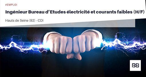 INGÉNIEUR BUREAU D'ETUDES ÉLECTRICITÉ ET COURANTS FAIBLES
