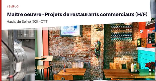 Maître d'oeuvre -projet de restaurants commerciaux