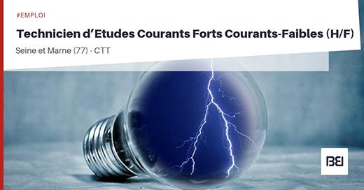 TECHNICIEN D'ETUDES COURANTS FORTS COURANTS-FAIBLES