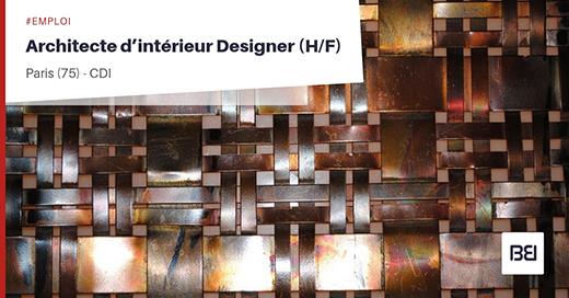 ARCHITECTE D'INTÉRIEUR DESIGNER