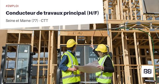 CONDUCTEUR DE TRAVAUX PRINCIPAL