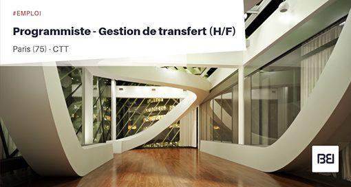PROGRAMMISTE - GESTION DE TRANSFERT