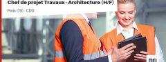 CHEF DE PROJET TRAVAUX - ARCHITECTURE