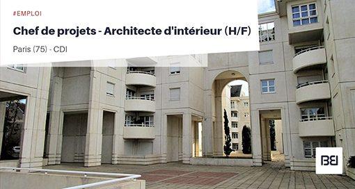 CHEF DE PROJETS - ARCHITECTE D'INTÉRIEUR