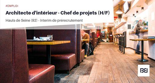 ARCHITECTE D'INTÉRIEUR - CHEF DE PROJETS