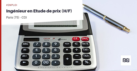INGÉNIEUR EN ETUDE DE PRIX