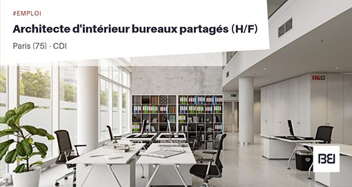 ARCHITECTE D'INTÉRIEUR BUREAUX PARTAGÉS