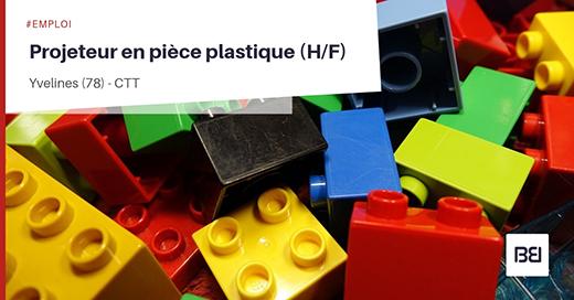 Projeteur en pièce plastique