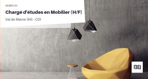CHARGÉ D'ÉTUDES EN MOBILIER
