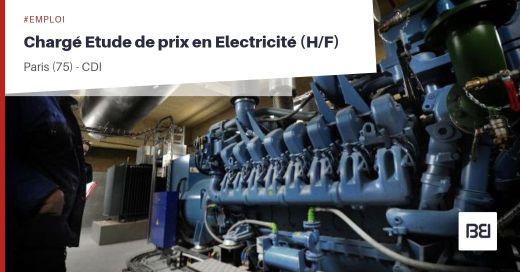 CHARGÉ ETUDE DE PRIX EN ELECTRICITÉ
