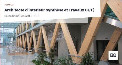 ARCHITECTE D'INTÉRIEUR SYNTHÈSE ET TRAVAUX