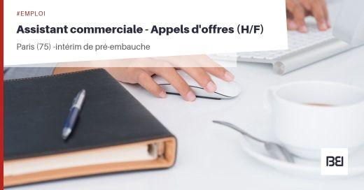 ASSISTANTE COMMERCIALE - APPELS D'OFFRES