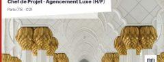 CHEF DE PROJET - AGENCEMENT LUXE