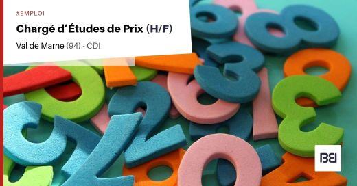 CHARGÉ D'ÉTUDES DE PRIX