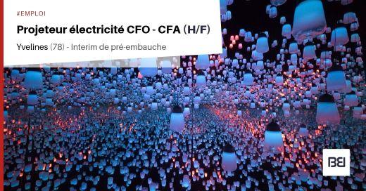 PROJETEUR ÉLECTRICITÉ CFO CFA