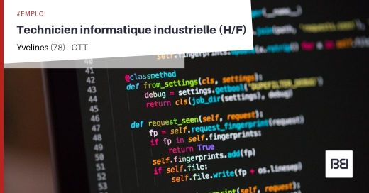 TECHNICIEN INFORMATIQUE INDUSTRIELLE