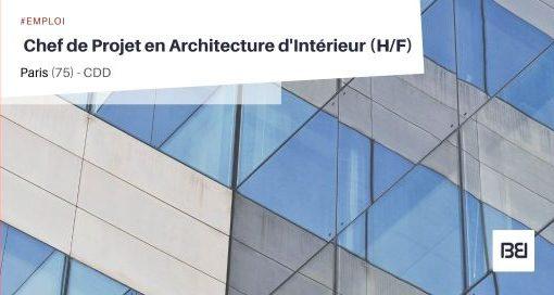 CHEF DE PROJET EN ARCHITECTURE D'INTÉRIEUR