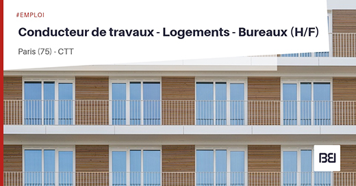 conducteur de travaux logements bureaux bureau d 39 tude interim. Black Bedroom Furniture Sets. Home Design Ideas